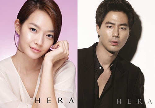Shin Min Ah and Jo In Sung as Amore Pacific Hera Models