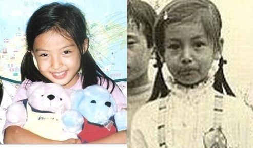Self-Cam and Childhood Pictures of Co-Ed's Hye Won