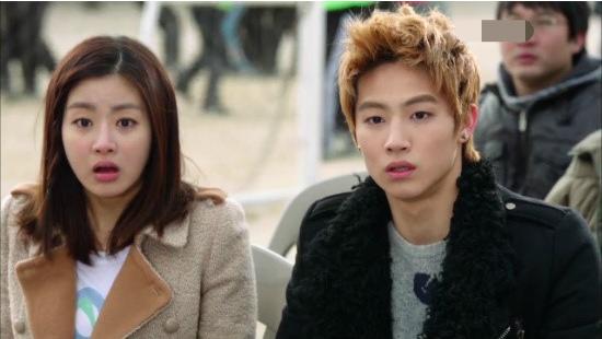 """Kang Sora and JB Almost Kiss on """"Dream High 2"""""""