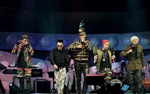 "Big Bang Performs Band Version of ""Bad Boy"" for ""YG On Air"""