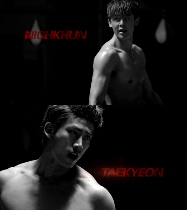 2PM's Nichkhun and Taecyeon Show Off Sexy Abs in BTS Video for Coca Cola ZERO CF