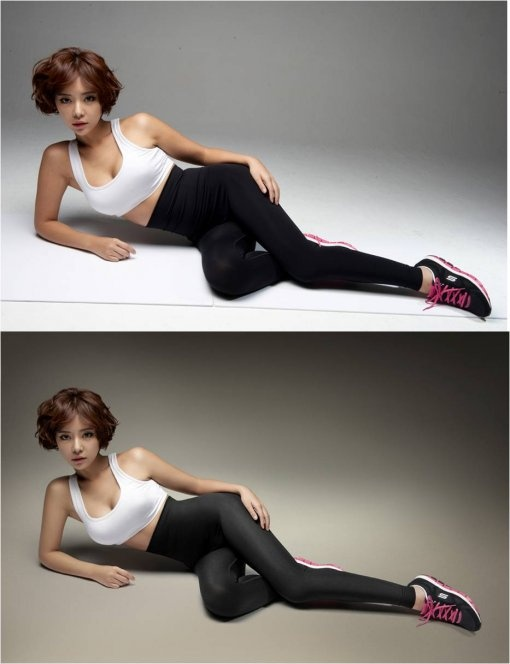Hwang Jung Eum Garners Attention for Pre-Photoshop Photo