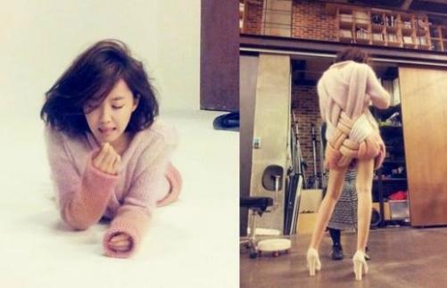 T-ara's Hyomin Reveals the Secret to Her Long Legs