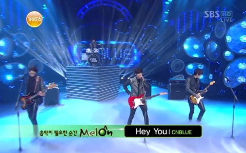 "CNBlue Performs ""Hey You"" on Inkigayo"