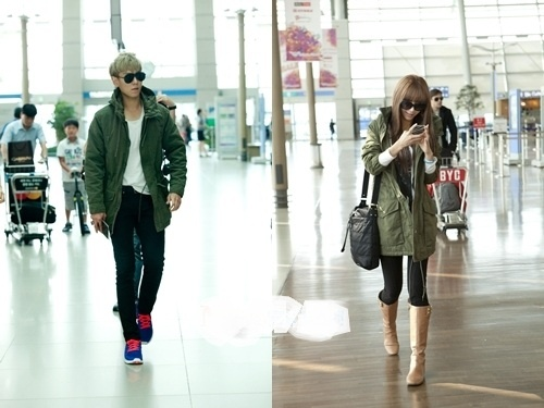 T.O.P. and G.NA's Matching Airport Fashion