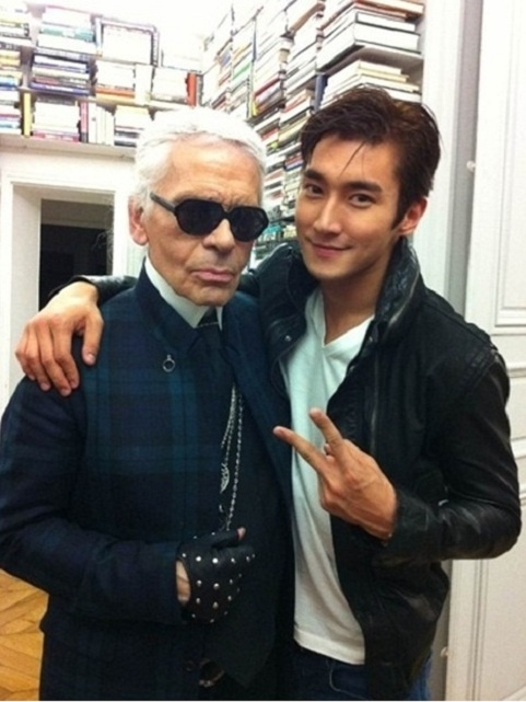 Super Junior Siwon Works with Chanel Head Designer Karl Lagerfeld